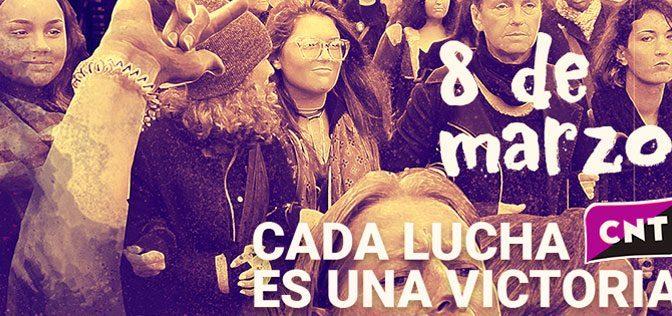 CNT convocarà vaga general feminista de 24 hores el 8 de març