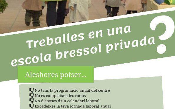CNT inicia una campanya d'informació i assessorament a les escoles bressol del sector privat