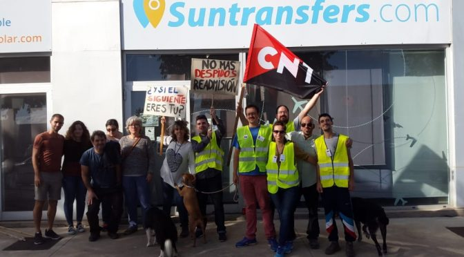 La secció sindical de la CNT a l'empresa Suntransfers de Torroella de Montgrí inicia una vaga indefinida