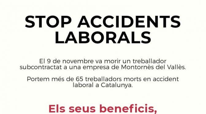 CNT es concentrarà contra sinistralitat laboral dimecres a Montornès del Vallès