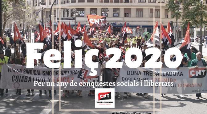 Per un 2020 de conquestes socials i llibertats