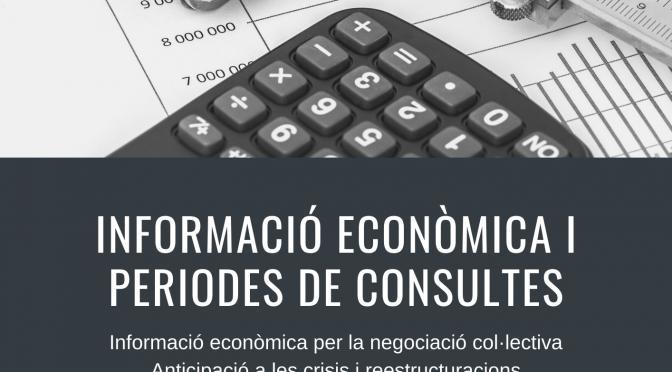 Nova formació sindical sobre informació econòmica de les empreses i periodes de consultes