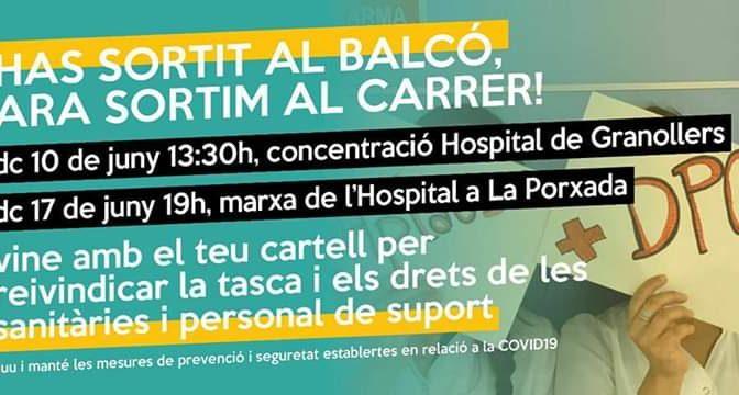 CNT recolza i anima a secundar les mobilitzacions del personal de l'Hospital de Granollers