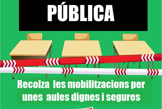 CNT s'adhereix a la vaga del 9 i 15 d'octubre a l'ensenyament públic de Catalunya
