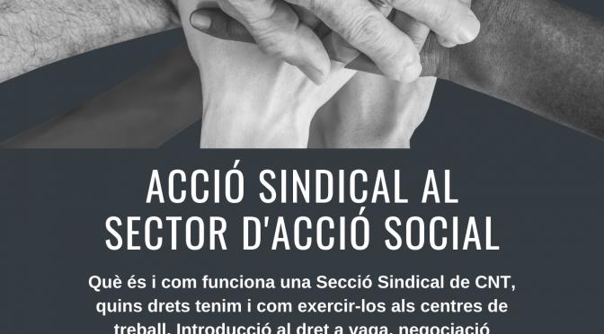 Nova formació sindical pel sector d'Acció Social