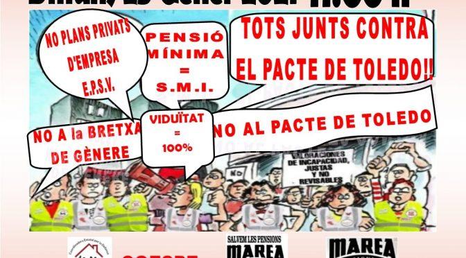 CNT es suma a les mobilitzacions contra el Pacte de Toledo dilluns 25G